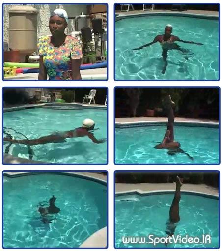 آموزش شنای موزن یا سینکرونایز