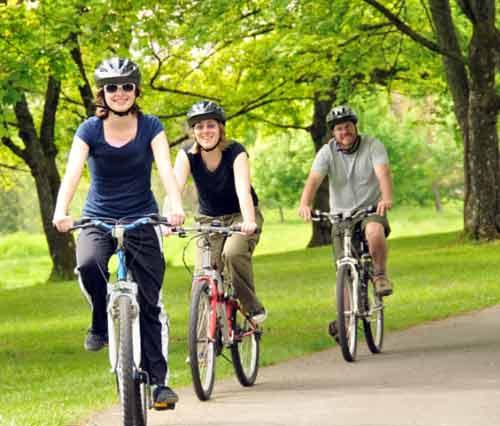 دوچرخه سواری صبح یا شب